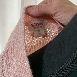 Mossimo Supply Co. Sweaters - Mossimo pink FLORAL embroidered cardigan XS